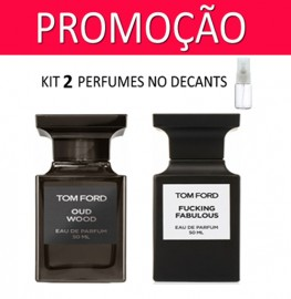 Kit 2 Decants : Perfume 100% Original Tom Ford Oud Wood + Tom Ford Fucking Fabulous + Brinde !