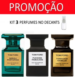 Kit 3 Decants : Perfume 100% Original Tom Ford Neroli  Portofino + Tom Ford Fucking Fabulous + Tom Ford Tobacco Vanille + Brinde !