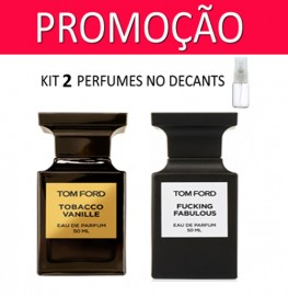 Kit 2 Decants : Perfume 100% Original Tom Ford Tobacco Vanille + Tom Ford Fucking Fabulous + Brinde !