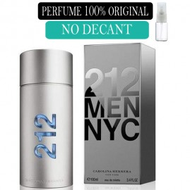 Perfume 100%  Original 212 Men Carolina Herrera no  Decant + Brinde !