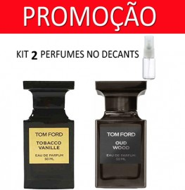 Kit 2 Decants : Perfume 100% Original Tom Ford Tobacco Vanille + Tom Ford Oud Wood + Brinde !