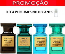 Kit 4 Decants : Perfume 100% Original Tom Ford Neroli  Portofino + Tom Ford Mandarino di Amalfi + Tom Ford Sole di Positano  + Tom Ford Tobacco Vanille + Brinde !