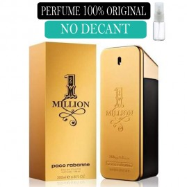 Perfume 100% Original One Million Paco Rabanne no Decant + Brinde !