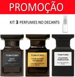 Kit 3 Decants : Perfume 100% Original Tom Ford Oud Wood + Tom Ford Fucking Fabulous + Brinde !