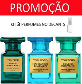 Kit 3 Decants : Perfume 100% Original Tom Ford Neroli  Portofino + Tom Ford Mandarino di Amalfi + Tom Ford Sole di Positano + Brinde !