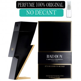 Perfume 100% Original Bad Boy Carolina Herrera no Decant + Brinde !