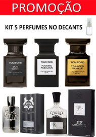 Kit 5 Decants : Perfume 100% Original Tom Ford Fucking Fabulous + Tom Ford Tobacco Vanille + Tom Ford Oud Wood  + Pegasus de Marly  + Creed AVentus + Brinde !