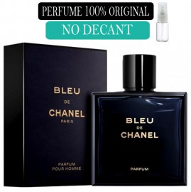 Perfume 100% Original  Bleu de Chanel no Decant + Brinde !