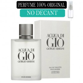 Perfume 100% Original Acqua di Gio no Decant + Brinde !