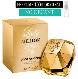 Perfume 100% Original  Lady Million Paco Rabanne no Decant + Brinde !