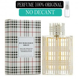 Perfume 100% Original Burberry Brit  no Decant  + Brinde !
